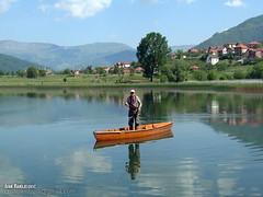 Fly Fishing Lake of Plav Monenegro (crnabambula) Tags: boat flyfishing fly fishing lake plav montenegro ivanrandjelovic