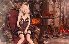 Be Our Guest (Gabriella Marshdevil ~ Trying to catch up!) Tags: sl secondlife cute creepy halloween violentseduction kawaii doll epiphany gacha bento enfersombre doe albino