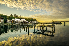 Langley Harbor Sunset (gnapspic) Tags: whidbey island langley harbor dock