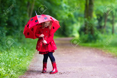 Little girl walking in the rain (hoangngaunguyen) Tags: rain child umbrella spring kids girl happy weather fun boots autumn rainy puddle water nature little childhood play summer toddler wet fall wellies park red raincoat shower pouring preschooler ladybug preschool happiness walking jump fashion season dress jacket bug garden coat colorful beautiful drops kindergarten people waterproof outdoor clothing outside