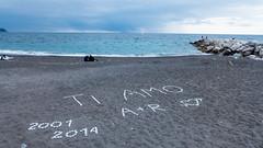 Ho scritto t'Amo sulla sabbia ... 13 anni di amore!