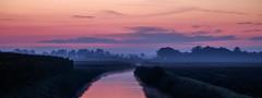 Sunrise (Wouter de Bruijn) Tags: fujifilm xt1 fujinonxf90mmf2rlmwr sunrise dawn morning water ditch reflections reflection landscape nature outdoor sky colour colourful mist horizon middelburg walcheren zeeland nederland netherlands holland dutch clouds