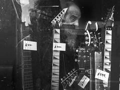 guitar_wizard (walkdontthink) Tags: streetphotography micro43 blackandwhite bnw bw people bristol southwest uk urban jackson ibanez panasonic gm1 the street monochrome contrast shadow shade silhouette black white brickwork guitar dark 7dwf