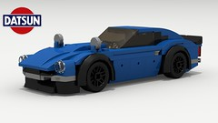 Datsun 240Z Tuner (Tom.Netherton1) Tags: datsun nissan z 240z classic vintage straight 6 japanese japan car cars engine 1970s 1960s speed speedster sport sports special lego legos ldd city digital designer dropbox download pov povray lxf tuner tuned turbo