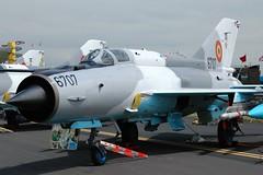 Romanian Air Force MiG-21 (Craig S Martin) Tags: waddington 2005 romanian air force 6707 mig21 mig airshow military jet soviet aviation