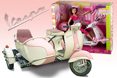 Barbie's Vespa (Brad Harding Photography) Tags: vespa scooter sidecar pink barbie piaggiocospa wasp italy steelunibody 150cc 19541967