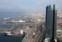 La nacelle.. (chriskatsie) Tags: marseille bateau mer sea tower tour port architecture ville batiment