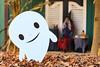 Boo! (kwtracyghostship) Tags: pennsylvania kwtracyghostship idlewildsoakzone autumn commonwealthpa ligonier unitedstates us whimsical ghost funny decorations dof 100400l canon 5dii driedleaves