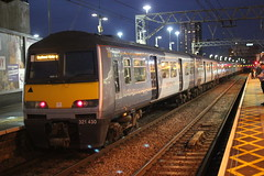 Still in an older livery . (AndrewHA's) Tags: stratford railway station train abellio greater anglia class 321 electric multiple unit emu 321430 1k90 liverpool street southend sea commuter service home going commuters passenger dark dusk evening brel york works