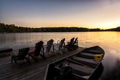 Moment when my heart stopped (mystero233) Tags: susnet sun dusk boat lake water longexposure sky muskoka muskokalakes ontario canada america north outdoor landscape dock calm bruce abigfave