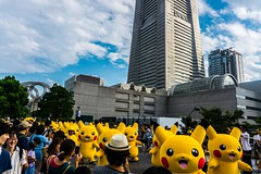 Pikachu Parade (samstandridge) Tags: japan japanese asia yokohama tokyo pikachu festival parade pokemon nihon travel journey adventure sam standridge sony alpha 6000 a6000 matsuri city skyscrapers landmark building