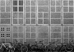 Bikes in Amsterdam (Jon Stocks) Tags: bikes bike black white blackandwhite monochrome landscape streetphotography street wall amsterdam travel pattern travelphotography photography photo photooftheday picoftheday netherlands holland holiday explore adventure lines nikon d7100 nikond7100 europe