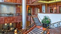 Atlanta, GA: Four Seasons Hotel grand staircase from the mezzanine. #OpenHouseAtlanta (nabobswims) Tags: atlanta fourseasonshotel ga georgia hdr highdynamicrange lightroom midtownatlanta nabob nabobswims openhouseatlanta photomatix sel18105g sonya6000 staircase stairs us unitedstates