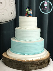 Ombre Ribbon Wedding Cake