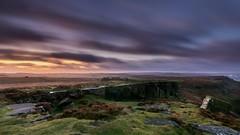 Early Light, Curbar Edge (gavsidey) Tags: clouds curbar edge derbyshire d7100 ngc rocks heather storm brian