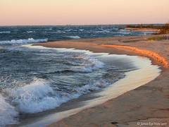 Sunrise Coast (JamesEyeViewPhotography) Tags: lake huron sunrise coast water waves greatlakes beach sand tawas point state park landscape northernmichigan michigan nature jameseyeviewphotography