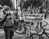 12th and Arch Streets, 2917 (Alan Barr) Tags: philadelphia 2017 12thstreet archstreet police protest protesters demonstration street sp streetphotography streetphoto blackandwhite bw blackwhite mono monochrome city group candid people panasonic lumix gx85