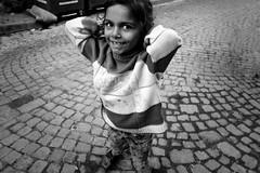 Carefree - Balat, Istanbul (Tilemachos Papadopoulos) Tags: qoq eyes recession turkey urban fuji fujifilm fujinon outdoor istanbul mono monochrome portrait street smile xe2 contrast bw blackandwhite mirrorless balat