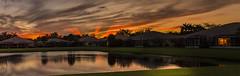 Fiery Sunset at Majestic Isle, Boyton Beach Florida (Garys_view) Tags: sunset autopano florida panorama photoshop sky carlzeiss slta99v sony fullframe