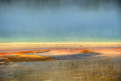 wonderous colors prismatic gyser (maryannenelson) Tags: wyoming nationalpark yellowstone prismaticgyser colorful landscape steaming