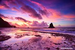 Okinawa  Kayo beach sunrise (koshichiba) Tags: kayo beach pacific okinawa sky rock refrection lee japan clouds wave wind tide nature ailand kunigamison kaunigami monsoon