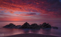 White Rock 30Oct2017 7-2 (Helen Mulvey) Tags: whiterock killiney beach coast sunrise dawn daybreak seascape tide water sky nikon d5100 pink longexposure outdoors landscape earlymorning morning