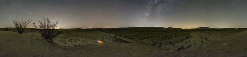 Deserted in the Desert. Alone at Night In Anza-Borrego Desert State Park