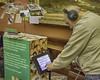iPad browsing kiosk softwaer with double cup headphones bespoke build by Blackbox-av