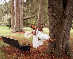 Swinging on Herman Melville's Swing (JFGryphon) Tags: arrowhead sprites fairy hermanmelville pittsfieldmassachusetts swing bench hbm melvilleshouse spirits ghosts thepiazza