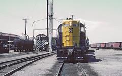 AT&SF GP9 741 and S4 1511 resting in Phoenix, AZ on July 24, 1962 (railfan 44) Tags: santafe atsf