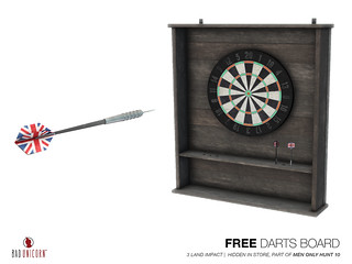FREE! Darts Boards (Part of Mens Only Hunt 10)