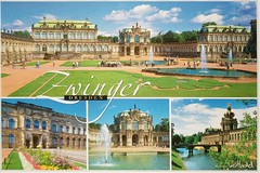 Countries - Germany - Dresden - Zwinger - multiview (a_garvey) Tags: postcard postcrossing germany dresden architecture zwinger available mc17 manythemesrrgroup2273