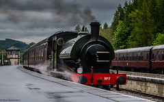 No.7 At Bolton Abbey (Paul GF3) Tags: england engine ebasr embsaybolton steam railway beatrice no2705 no7 heritagerailway hunslet yorkshiredales yorkshire train tankengine tank steamengine station steamtrain railroad railwaystation preservation preservedrailway outdoors signalbox