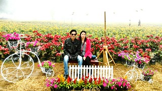 Connected By Travel Adults Only Growth Happiness People Beauty Beauty In Nature Plant Looking At Camera Couple - Relationship Flowerbed Adult Cheerful Love Togetherness Two People Outdoors Flower Smiling Portrait Nature