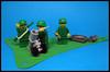 Mortar Team (Karf Oohlu) Tags: lego moc minifig vignette mortarteam soldier mortar greenguy rifle munitions