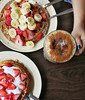 Waffles and Chai (katiegodowski_photography) Tags: foodie chai food waffle eat delicious tabletops tabletop photography photographer photos flickr foodphotography foods hand strawberry fruit marshmellow creative meal brunch breakfast