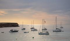 in rada (walter.fangio) Tags: formentera barche baleari tramonto vele mediterraneo