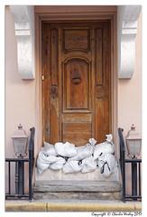 Marine Street Sandbag Door (wesjr50) Tags: canon 5ds door historic building 24105mm hurricane irma storm st augustine florida