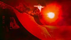 Josh Fronside Ollie (candersonclick) Tags: blue skateboarding diy concrete wasteland bladerunner ollie film still nikond5 profoto b1 b2