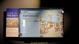 Inside one of the Museums devoted to navel history in Portsmouth Historic Dockyard in September 2017, Portsmouth, Hampshire, England.