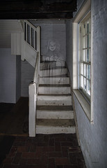 Brian_Ghostly Girl 1 LG_082517_2D (starg82343) Tags: 2d brianwallace steps ghost female railing banister haunted entity paranormal weird strange transparent ghostly apparition stairs stairsteps fortmchenry window girl earthbound halloween