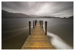 a hint of autumn (akh1981) Tags: cumbria landscape lakedistrict lake longexposure jetty uk clouds catbells keswick derwent derwentwater wideangle water walking outdoors manfrotto mountains moody nikon nisi