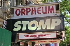 Orpheum Theatre, New York, NY (Robby Virus) Tags: newyorkcity newyork nyc ny manhattan bigapple city orpheum theatre theater marquee stomp play live action cinema movies stmarks east village