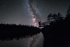 Milky Way Selfie (Jani JJ) Tags: milky way dark black night evening selfie finland suomi southern star planets stand background lendscape forest lake water reflection bright silhuet