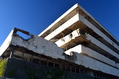 The Pelegrin Hotel, Kupari, Croatia (Erik1James) Tags: architecture pelegrin hotel yugoslav abandoned croatia damaged kupari dubrovnik resort damage sky