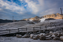 Mountain Lines (Zano91) Tags: clouds sky grass panorama contrast rain nikon d7100 trees tree foreground background outdoor sigma art mountain mountains mount colorful vibrant cloud meteo landscape mood moody weather foothill hill mountainside 1835mm wind snow ski sun light windy solitude slope barn barns cabin cabins house trail crosscountry wires road lines fence rocks