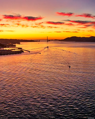 San Francisco (davidyuweb) Tags: 三藩市 sfist sunset goldengatebridge