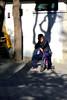 Waiting for a bigger bike. Tuanjiehu Park, Beijing, China (MJ Reilly) Tags: beijing china canon powershot s100 canons100 park autumn sunshine tuanjiehupark tuanjiehu man bike bicycle velo shadow ombre chinese