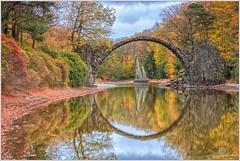 Rakotz Bridge / Devil's Bridge (Thomas Jahnke) Tags: saxon bridge wood lake