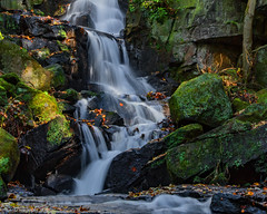 Lumsdale Falls (Part Of) (Fermat 48) Tags: waterfall lumsdale peakdistrict derbyshire matlock autumnalcolours water rocks bentlybrook cuckoostonedale riverderwent tansley canon camera eos 7dmarkii ef24105mmf4lisusm